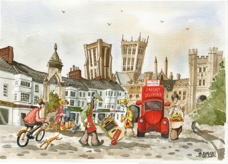 watercolour of wells delivery